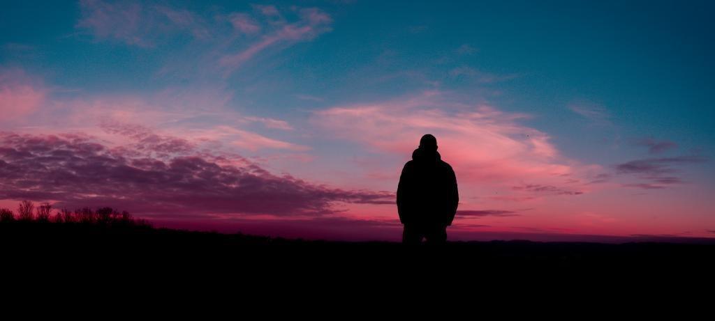 man-silhouette-sky-night